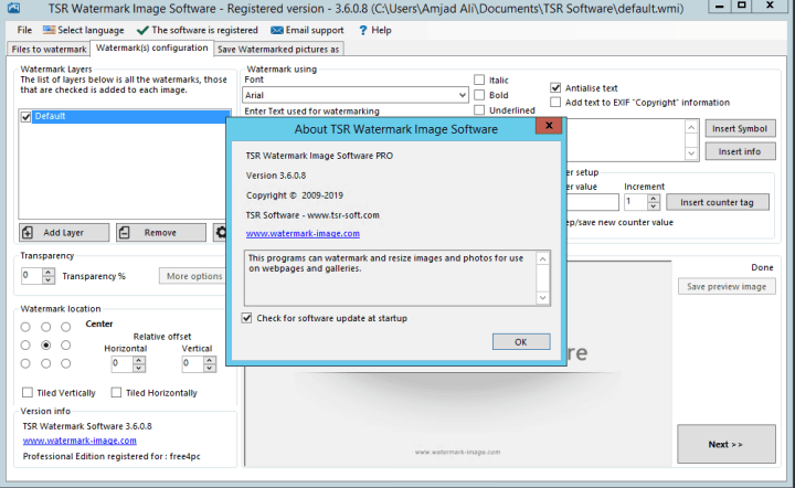 TSR Watermark Image Pro 3.6.0.8 Serial Key