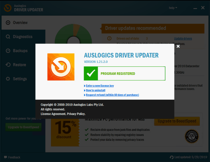 Auslogics Driver Updater 1.21.2 With Crack [free4pc]