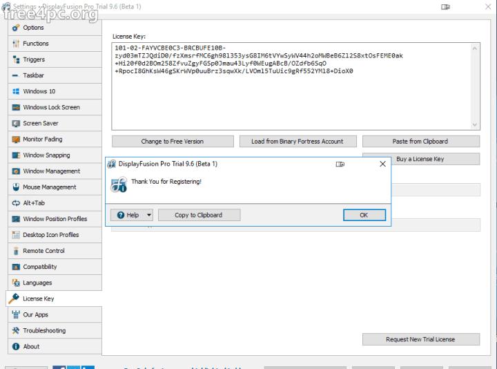 DisplayFusion Pro Serial Key free download