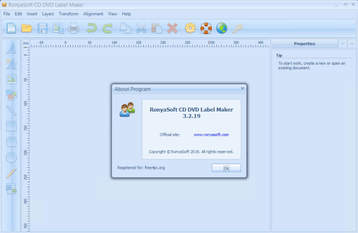 RonyaSoft CD DVD Label Maker 3.2.19 Serial Key