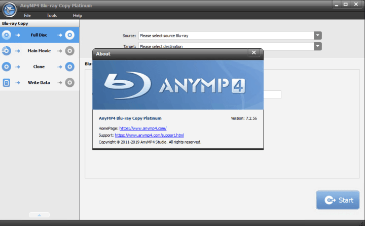 AnyMP4 Blu-ray Copy Platinum Crack
