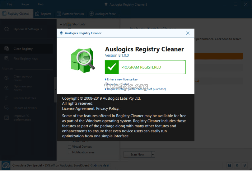 Auslogics Registry Cleaner Professional 8.1.0 Crack