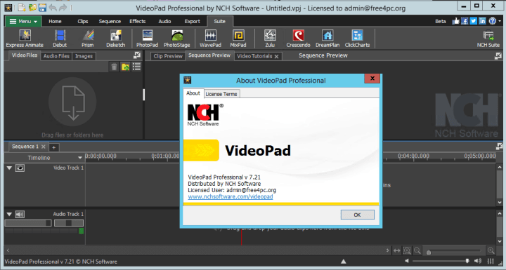 NCH VideoPad Video Editor Professional 7.21 Beta Crack
