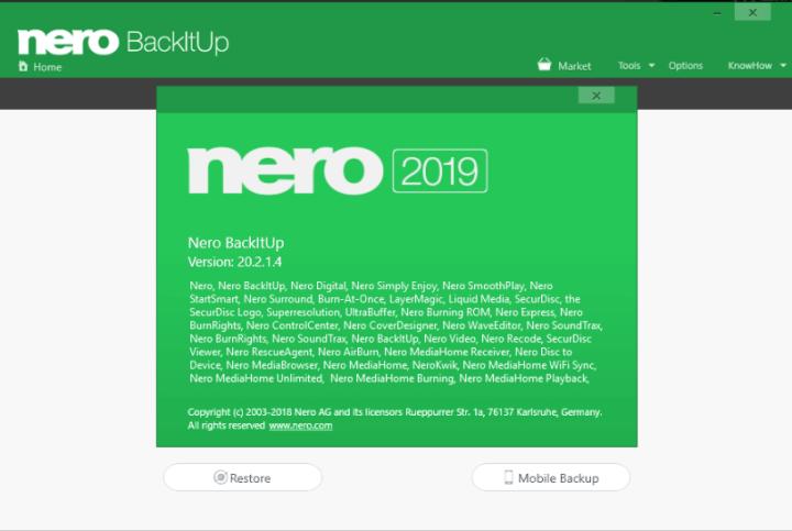 Nero BackItUp 2019 v20.2.1.4 Crack