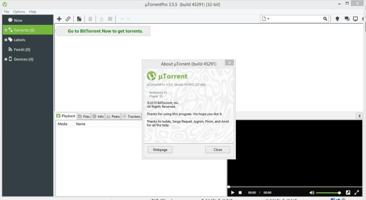 uTorrent Pro 3.5.5 Build 45291 Crack