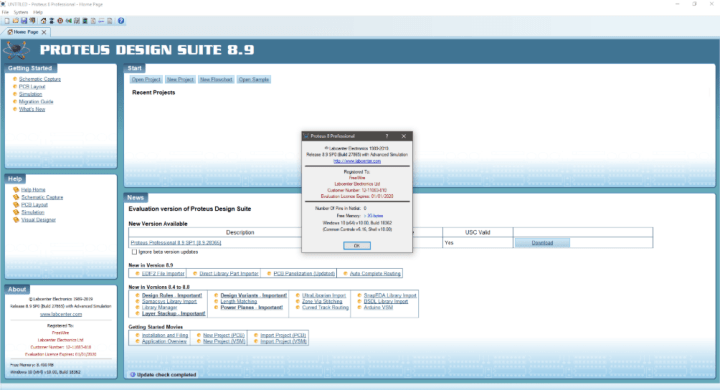 Proteus Professional 8.9 SP0 Build 27865 Crack
