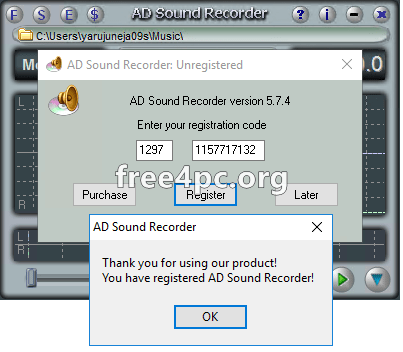 Adrosoft AD Sound Recorder Serial key