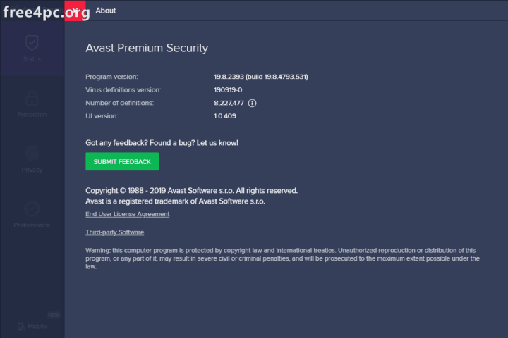 Avast Premier Security Activation Code 2019