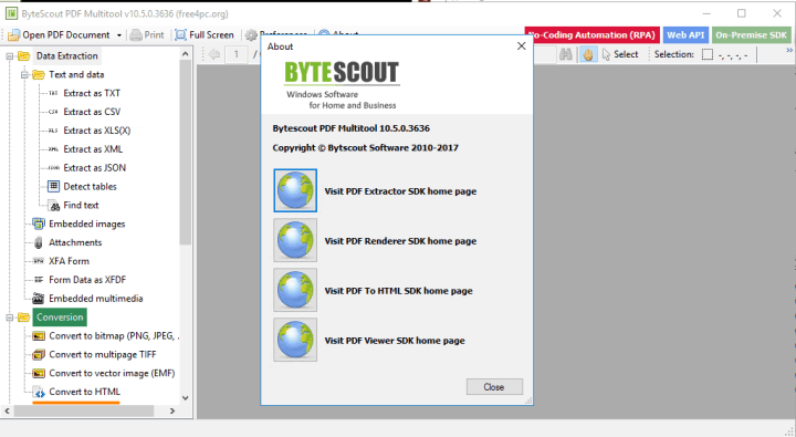 ByteScout PDF Multitool 10 5 0 3636 Business With Key [Latest]