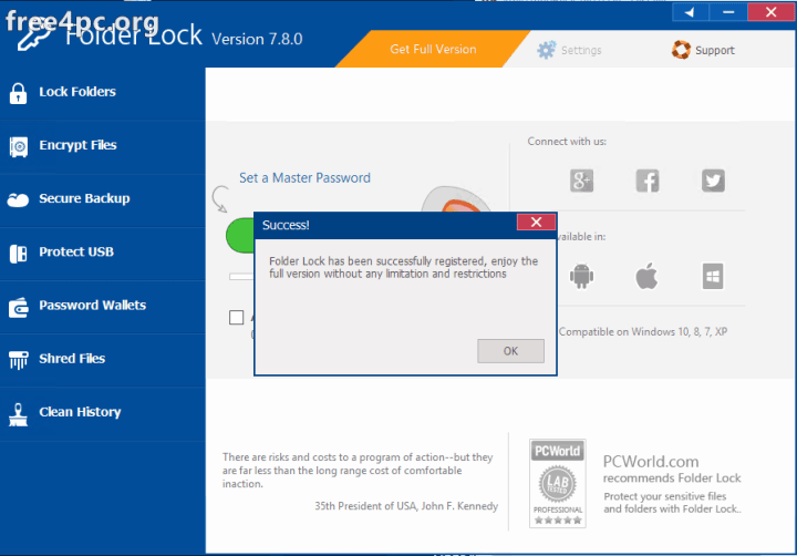 Folder Lock 7.8.0 Full Version