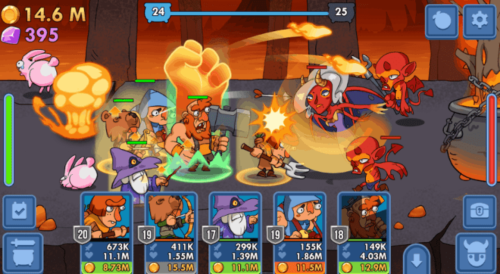 Semi Heroes Idle & Clicker Adventure RPG Tycoon v1.0.9 MOD APK