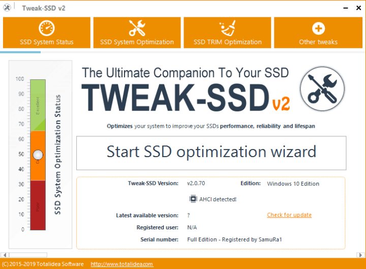 Tweak-SSD 2 key