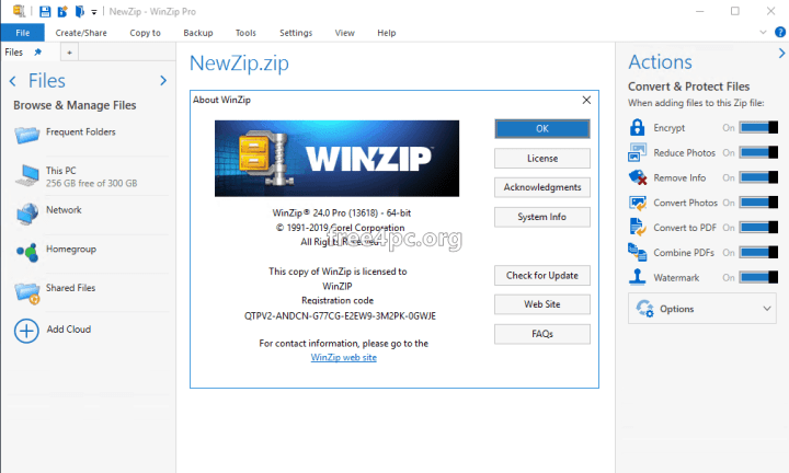 WinZip Pro 24 Activation Code Free download