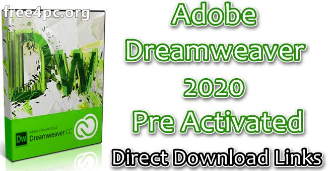 Adobe Dreamweaver 2020 Pre Activated