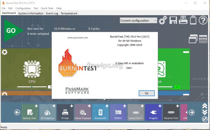 BurnInTest Professional 9 Full Version