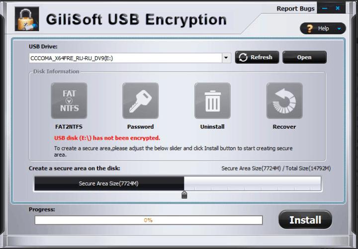 GiliSoft USB Stick Encryption 10 Crack