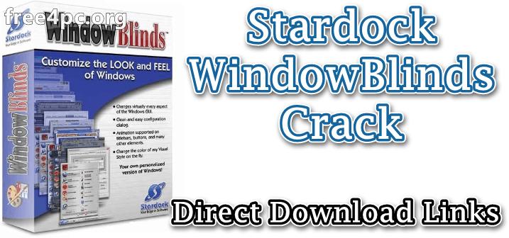 Stardock WindowBlinds Crack