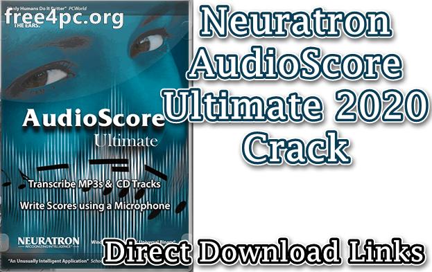 Neuratron AudioScore Ultimate 2020 Crack