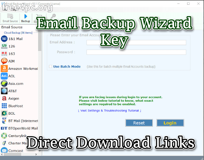 Email Backup Wizard Key