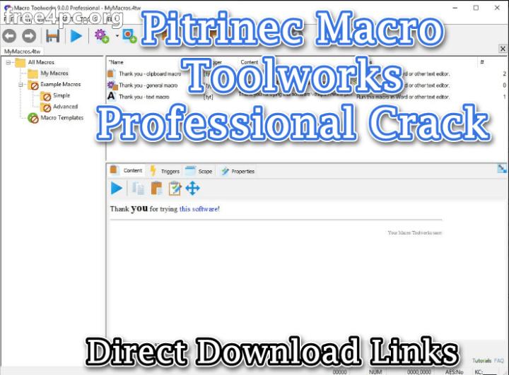 Pitrinec Macro Toolworks Professional Crack