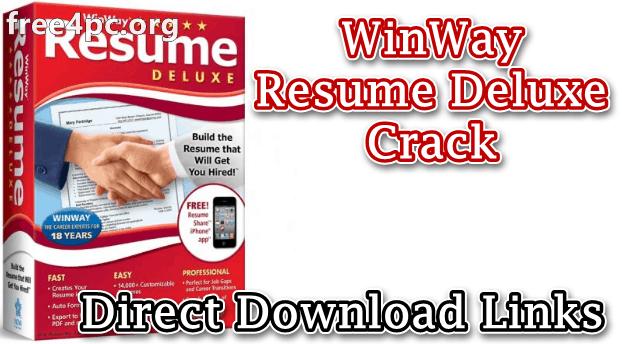 WinWay Resume Deluxe Crack