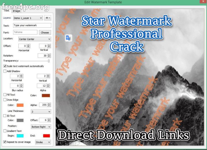 Star Watermark Professional Crack