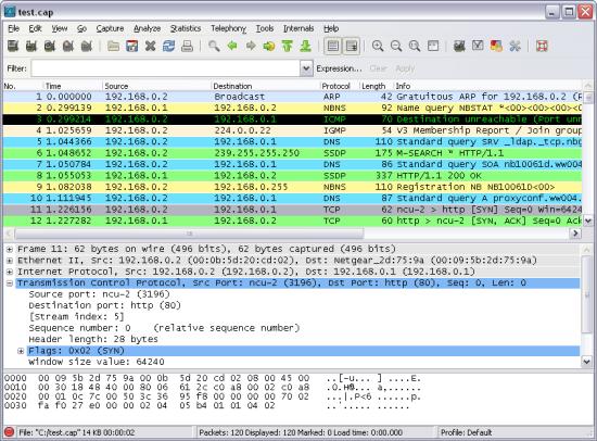 網路流量監測軟體 Wireshark
