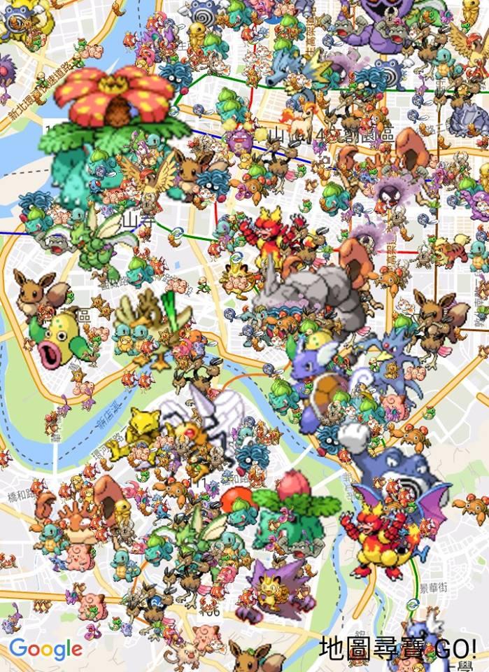 Pokemon Go 地圖分布查詢工具 - 地圖尋寶GO!