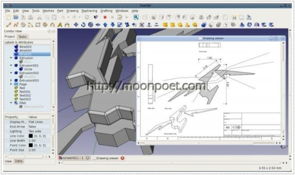 autocad替代軟體 - 免費工業繪圖軟體 FreeCAD免安裝