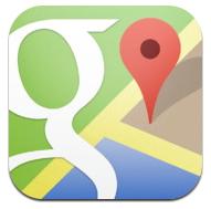 iphone google map app