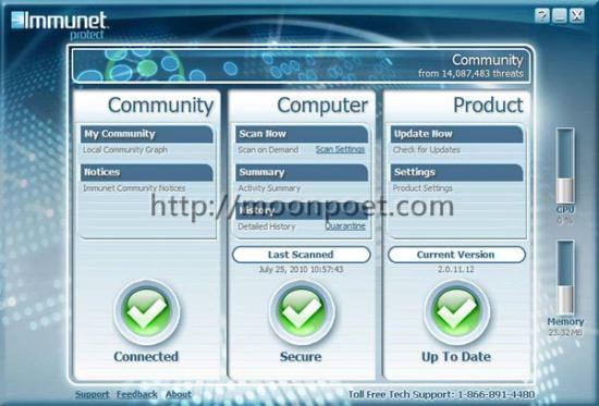 Immunet Protect Free Antivirus 3.0.8.9025 防毒軟體免費下載