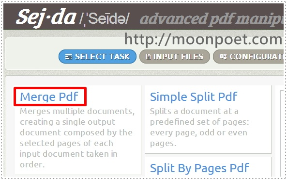pdf合併 免安裝線上服務 Sej-da