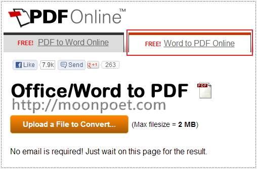 pdf轉word 線上免費轉檔服務 PDF to Word Online