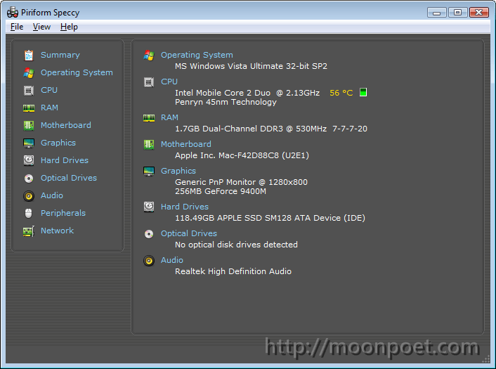 電腦硬體檢測工具 Speccy