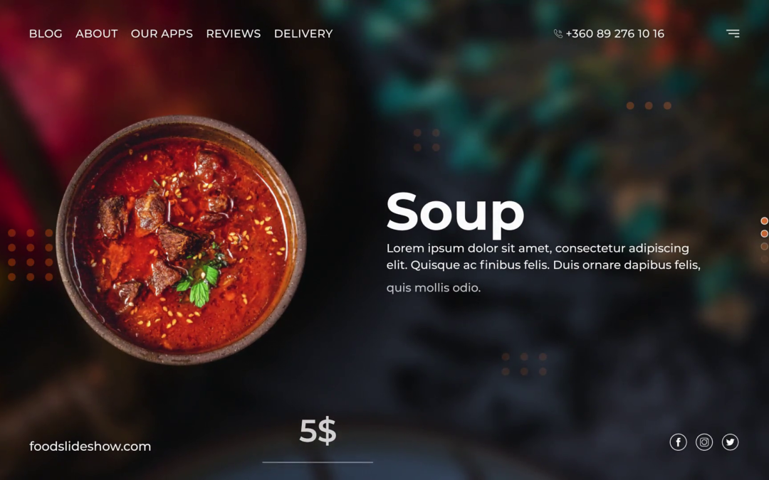 Food Promo After Effects Template Free Download Freeaefiles