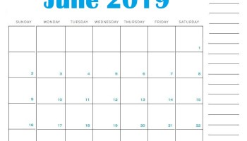 Get Editable May 2019 Calendar Template Blank Word Landscape