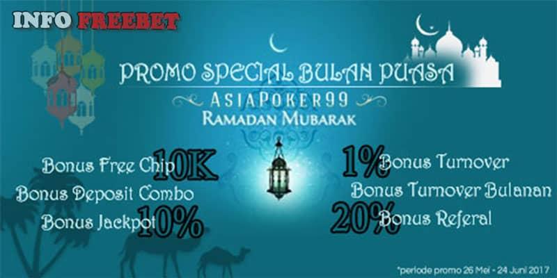 Promo Freebet Special Ramadhan Dari ASIAPOKER99.COM
