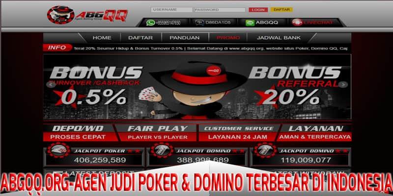 ABGQQ.org - Agen Judi Poker & Domino Terbesar Di indonesia