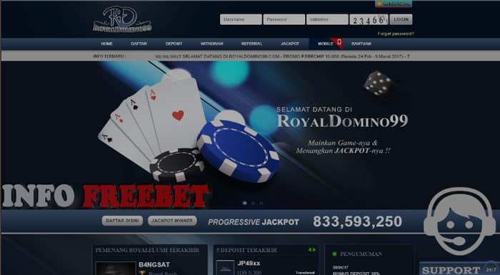 RoyalDomino99 Agen Domino Poker Capsa Dengan Bonus Perdana 20.000