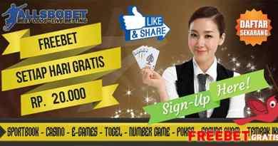 Freebet Gratis Rp 20.000 Setiap hari Dari AllSbobet.com