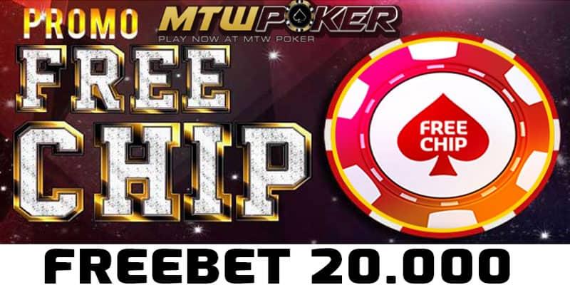 Freebet Gratis Rp 20.000 Member Baru Dari MTWPOKER.com