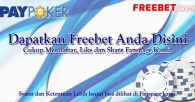 Freechips Gratis IDR 10.000 Dengan LIke & Share Dari PayPoker.Net