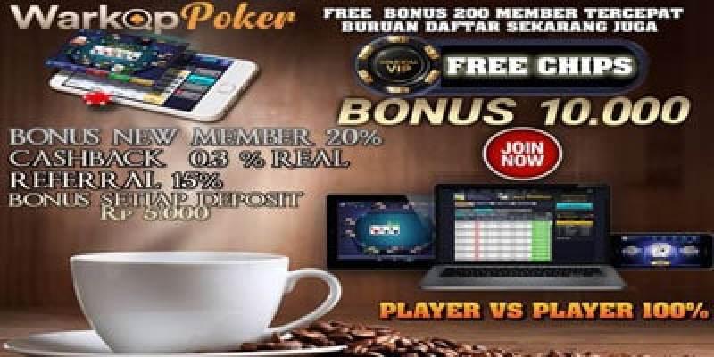 WarkopPoker.com – Freebet Gratis Rp 10.000 Tanpa Deposit