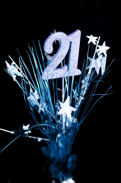 Image Of 21st Birthday Party Concept Design Freebie