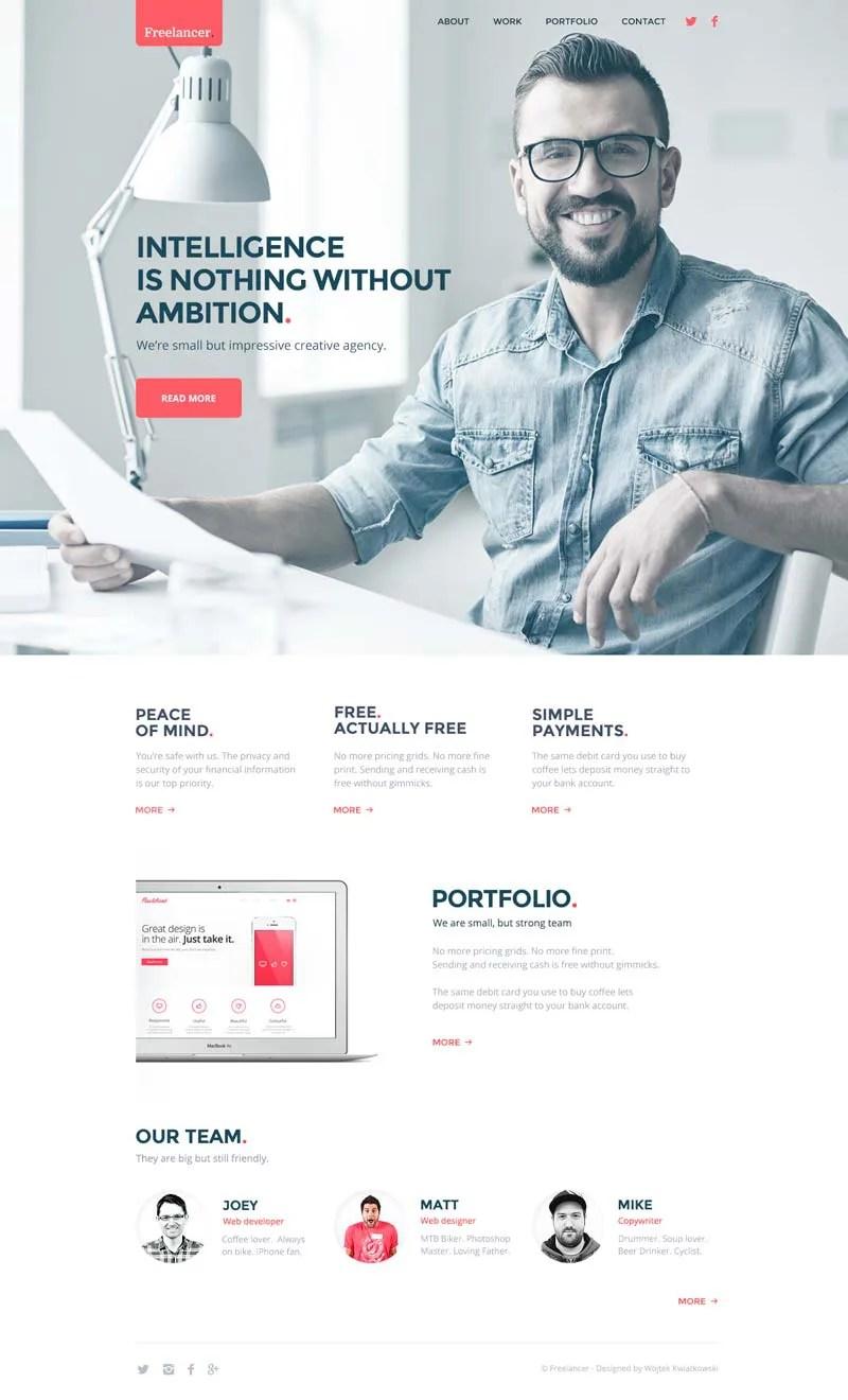 download freelancer resume web template freebiefy com