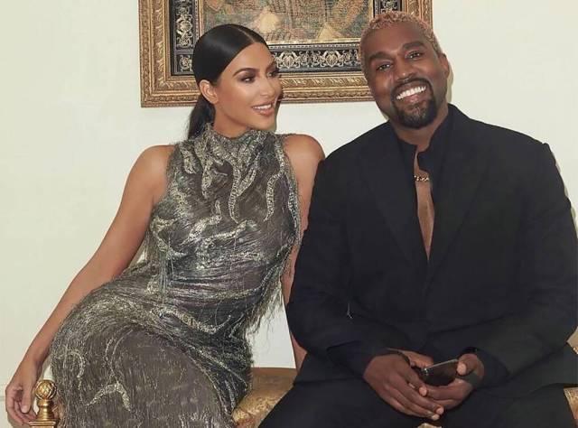 Kim Kardashian and husband Kanye West before their divorce.