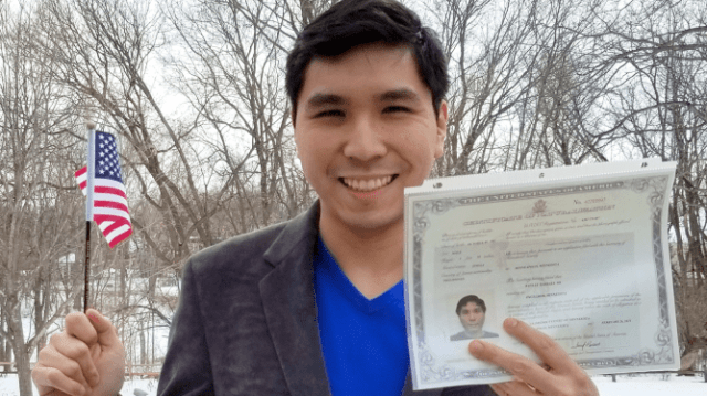 Super Chess Grandmaster Wesley So acquiring his US citizenship.