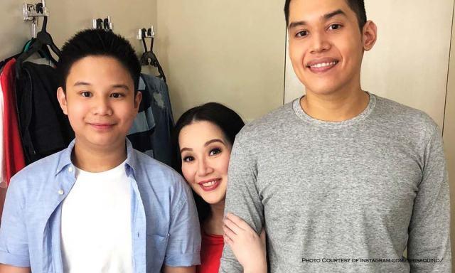 Kris Aquino with sons Josh and Bimby