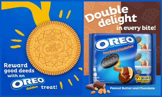 Peanut butter and chocolate flavored Oreos is back on stock.
