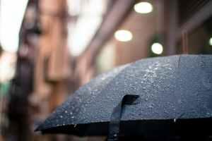 raindrops on umbrella